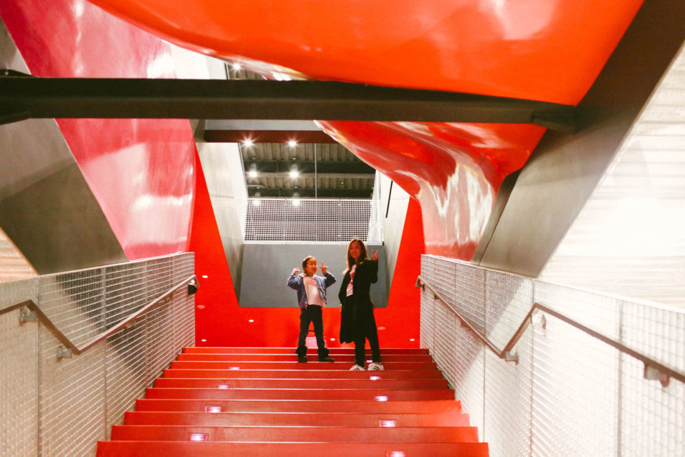 The coolest red stairs