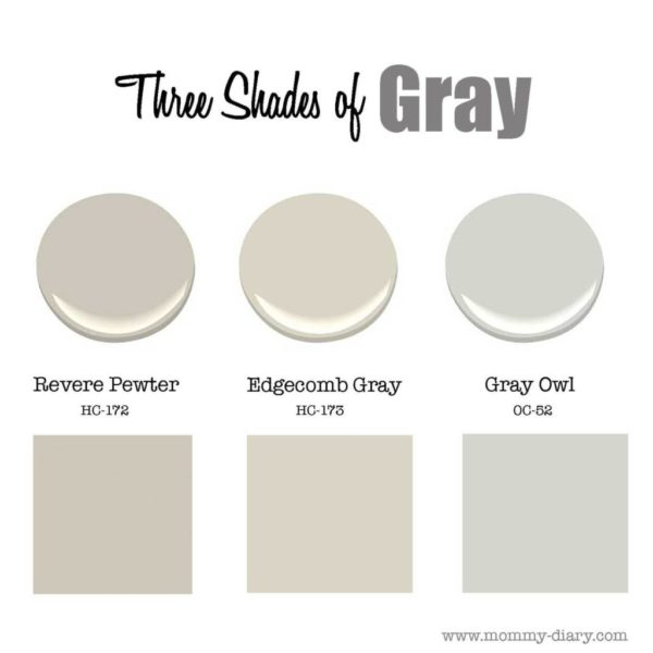 Three Shades Of Gray: Revere Pewter & Edgecomb Gray