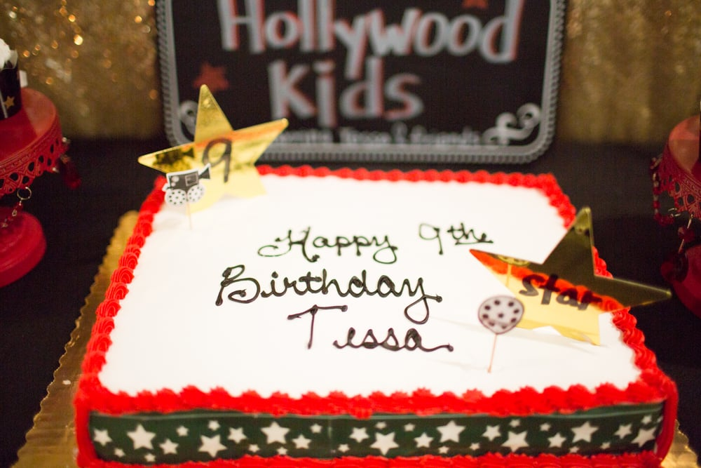Cool Hollywood Superstar Birthday Cake Mommy Diary Funny Birthday Cards Online Overcheapnameinfo