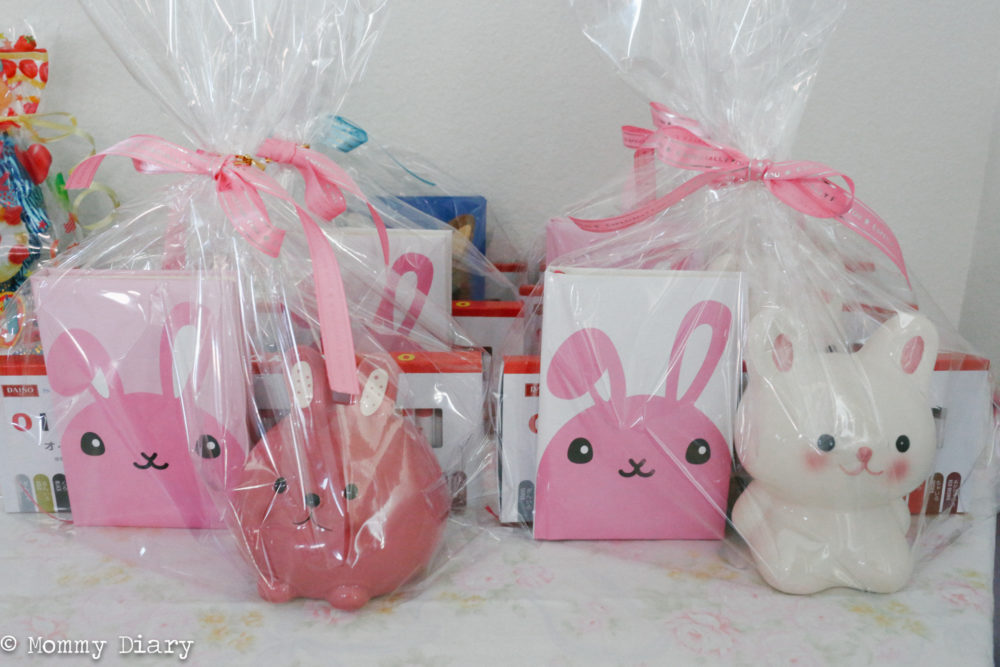 Easter bunny themed goodies from Daiso