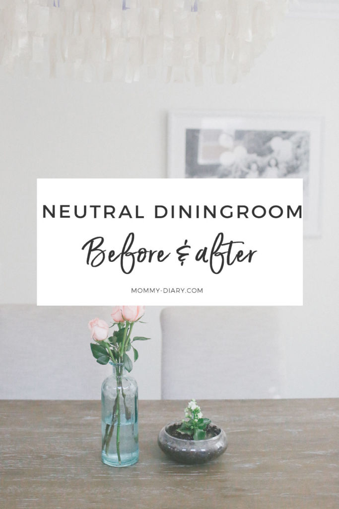 neutral diningroom before and after