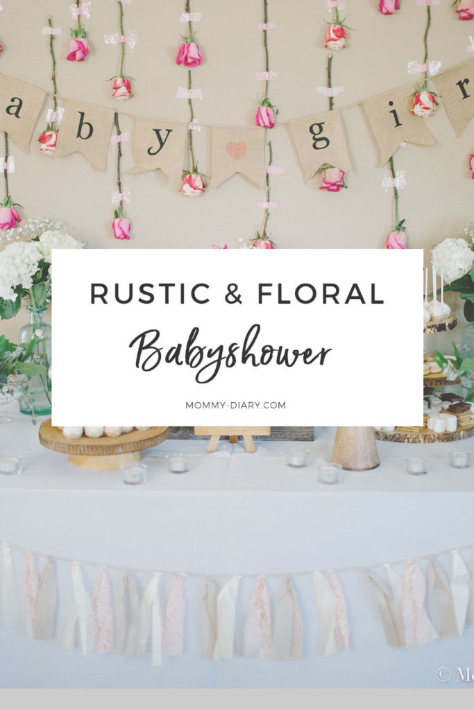 rustic floral babyshower for baby girl
