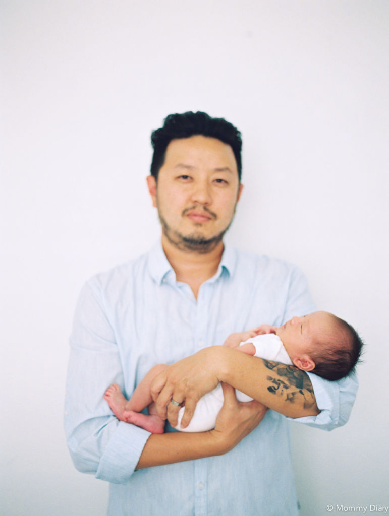 father-son-newborn-photography