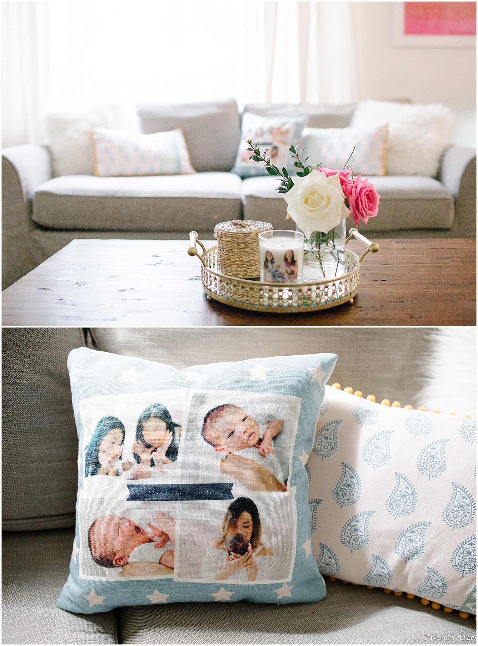 Shutterfly Home Decor Pillow Candle