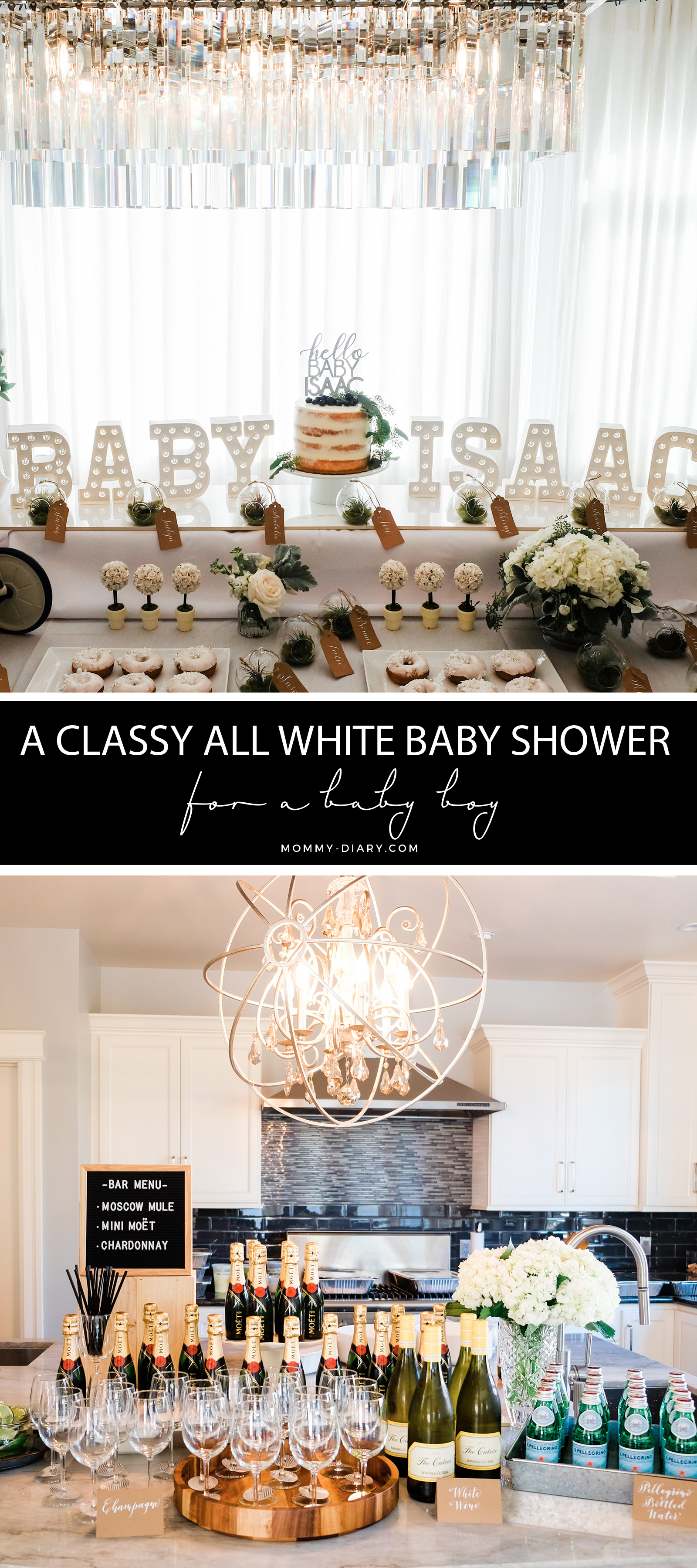 all-white-gender-neutral-baby-shower- for boy or girl
