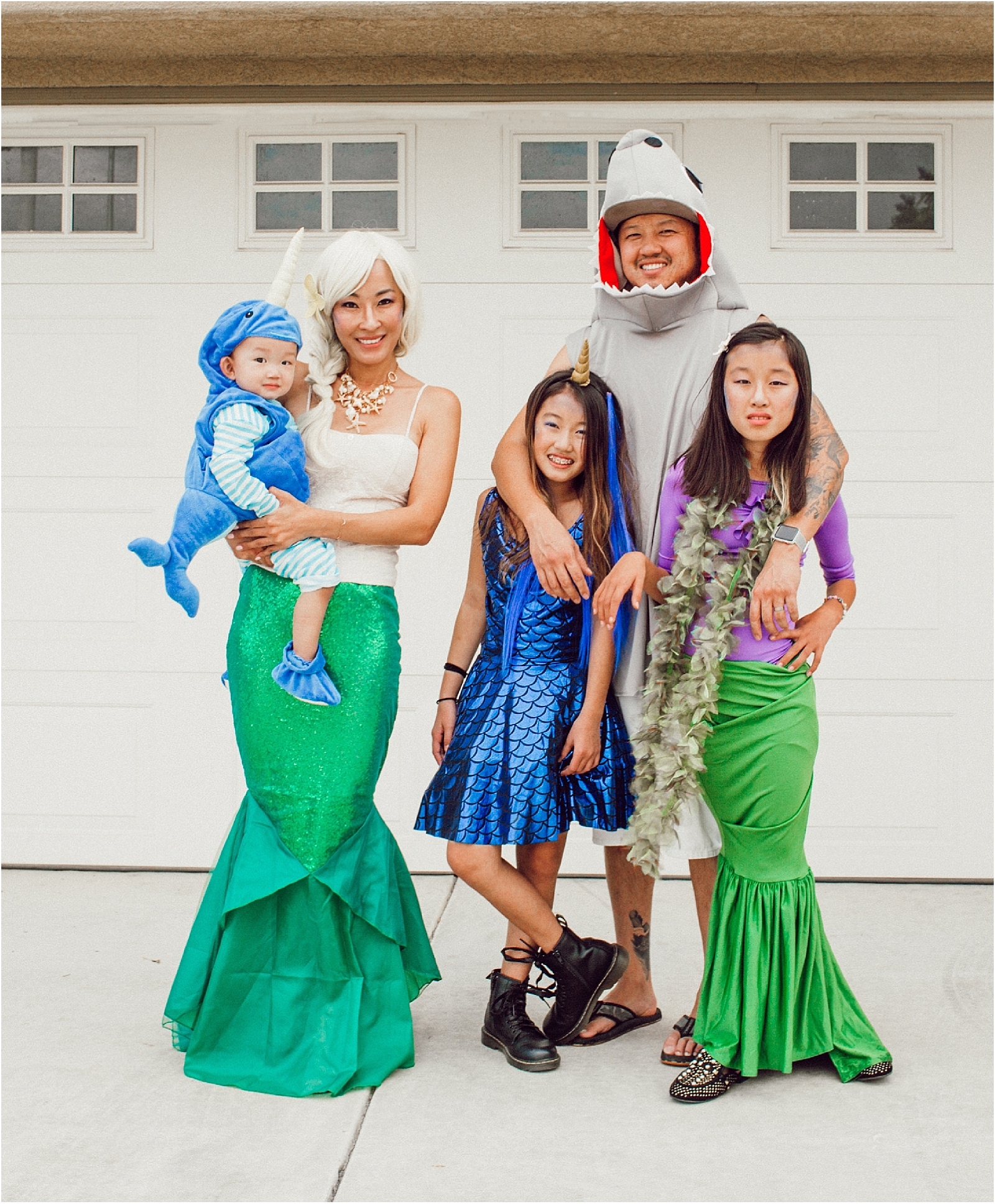 halloween-under-the-sea-family-costume-mermaid-narwhal-shark