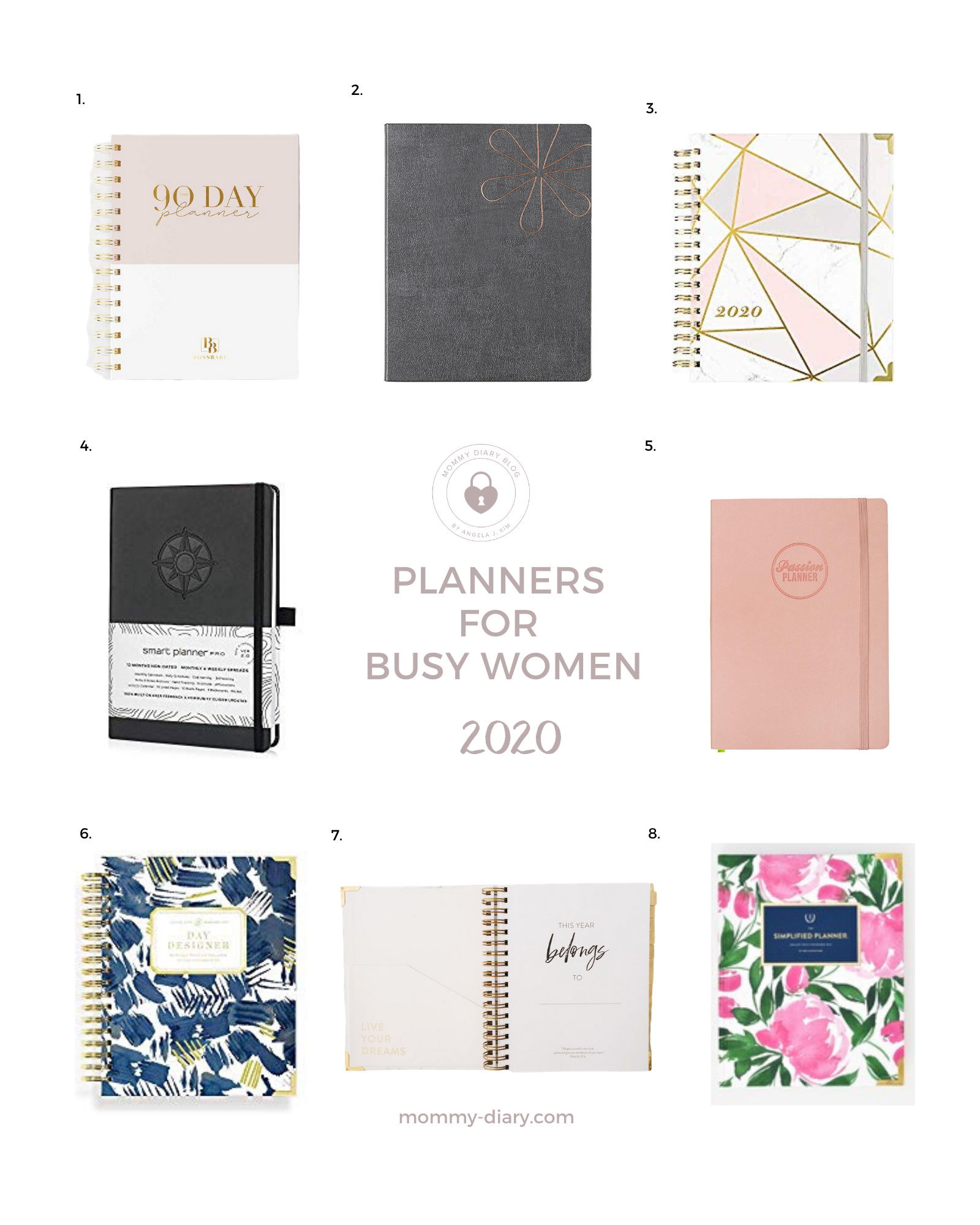 Planners for 2020