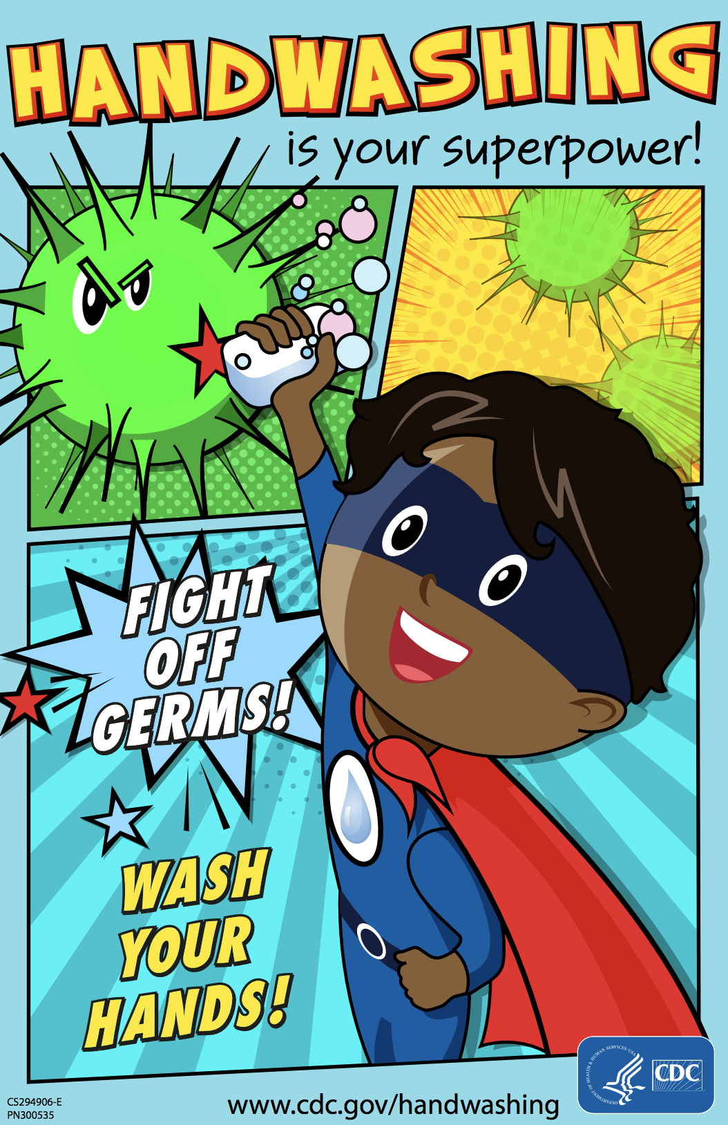handwashing poster cdc