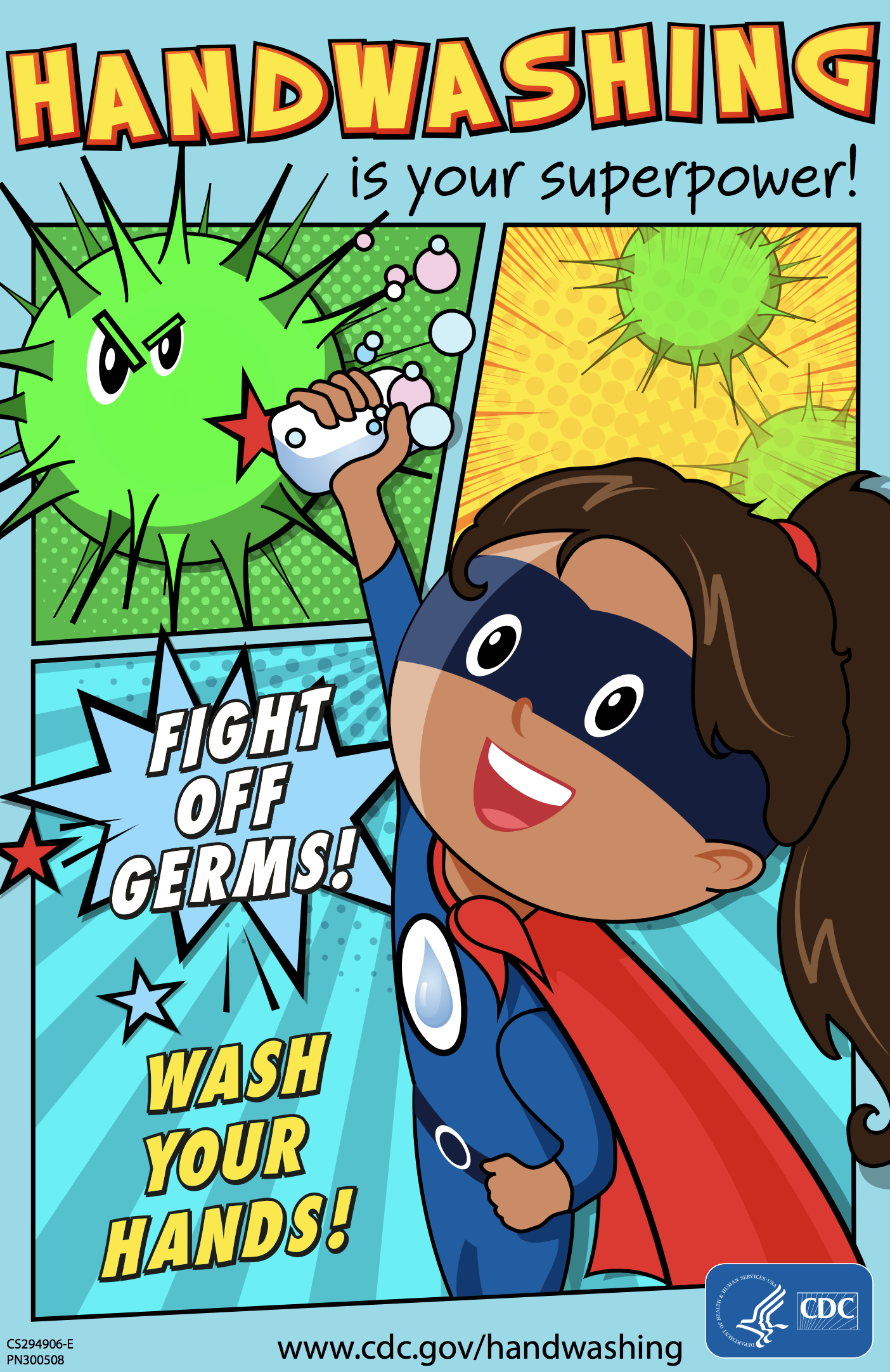 superhero handwashing for girls