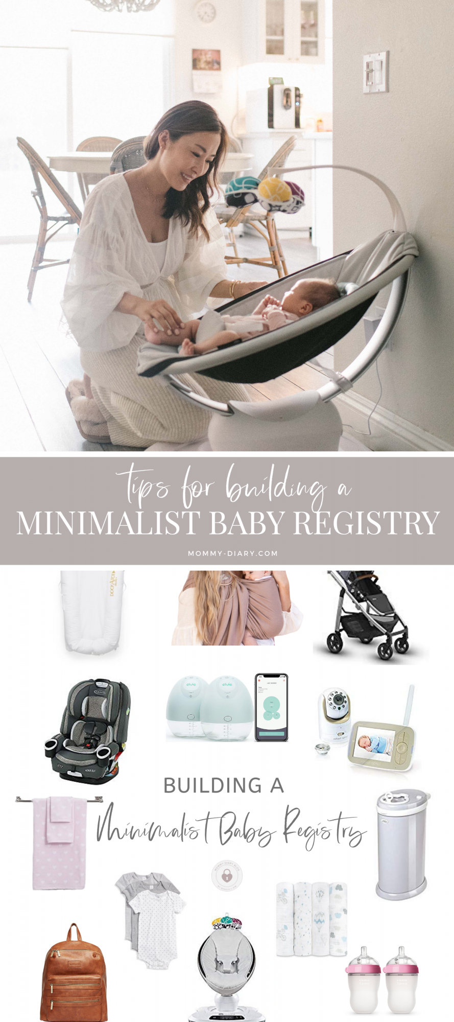 tips for building minimalist baby registry