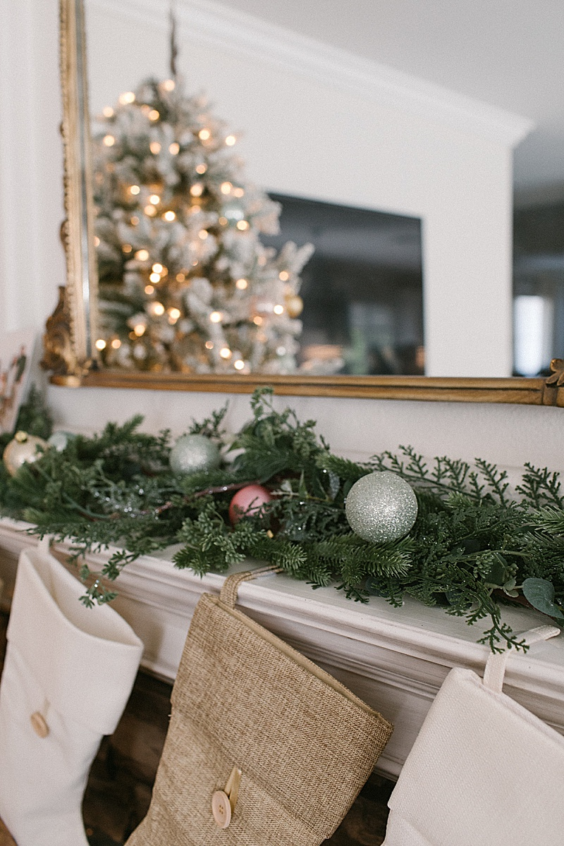 Neutral Pastel Holiday Mantle At Mommy Diary Home