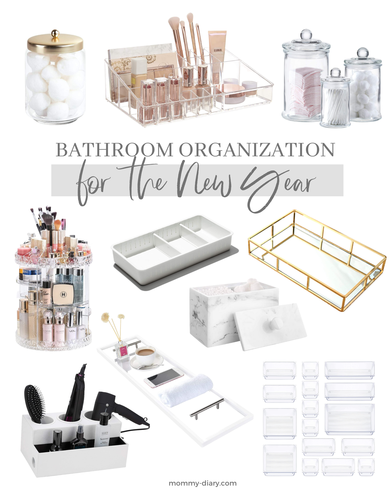 Bathroom Organization for the New Year