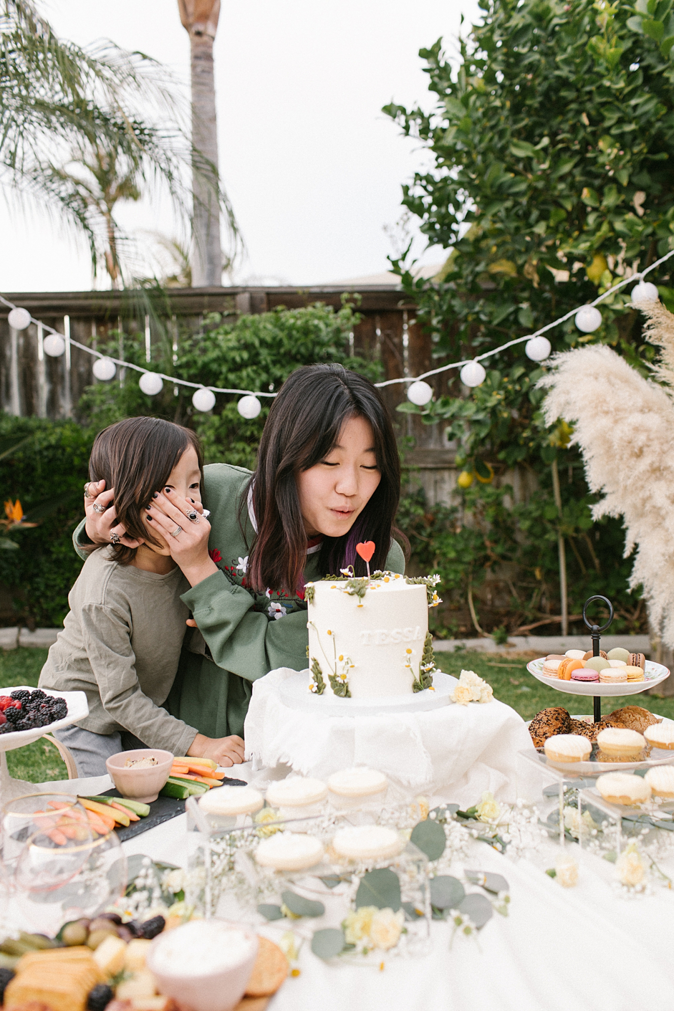 small outdoor birthday party