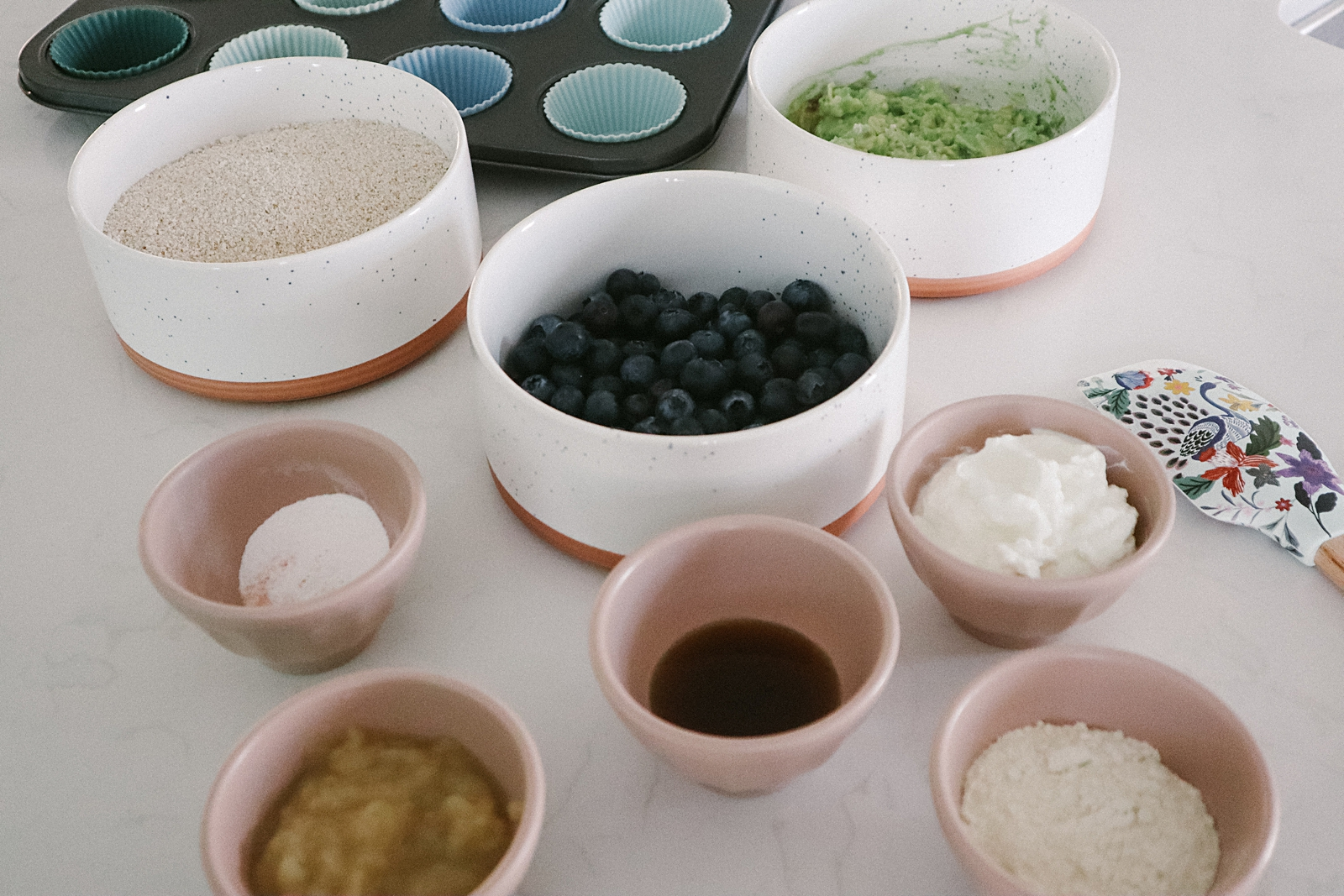 Avocado Blueberry Muffin ingredients