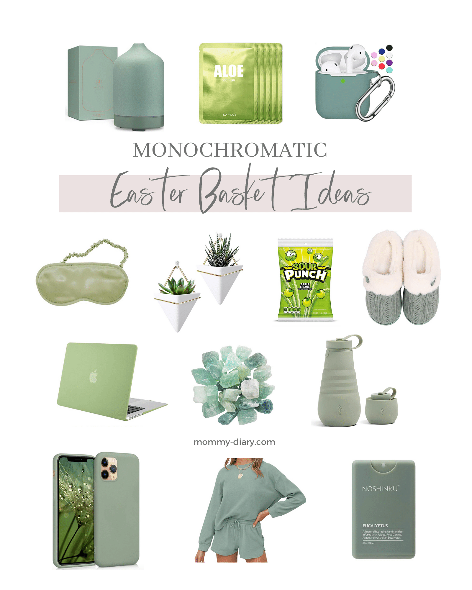 Monochromatic Easter Basket Ideas For Kids And Teens