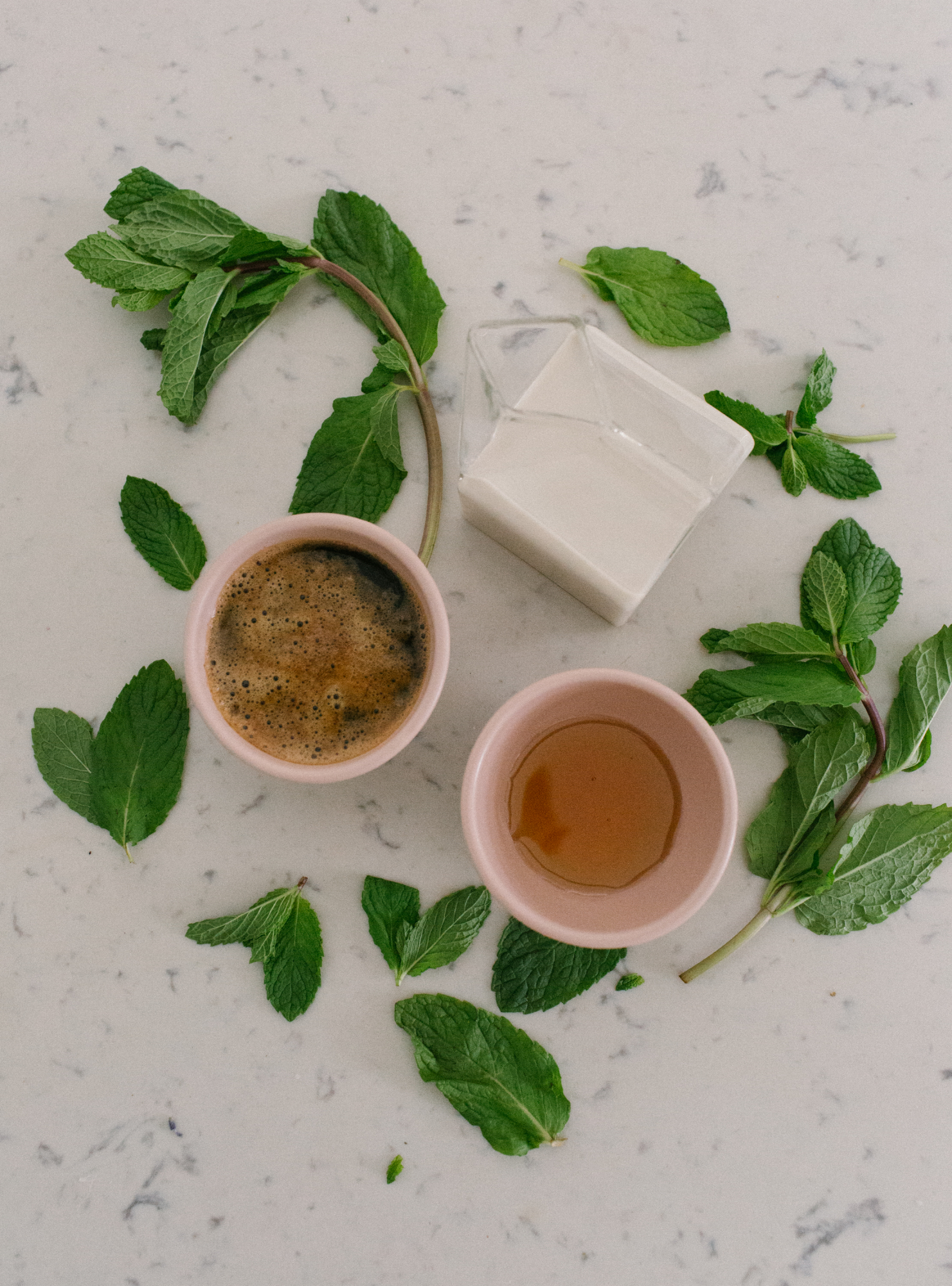 how to make Mint Mojito Latte