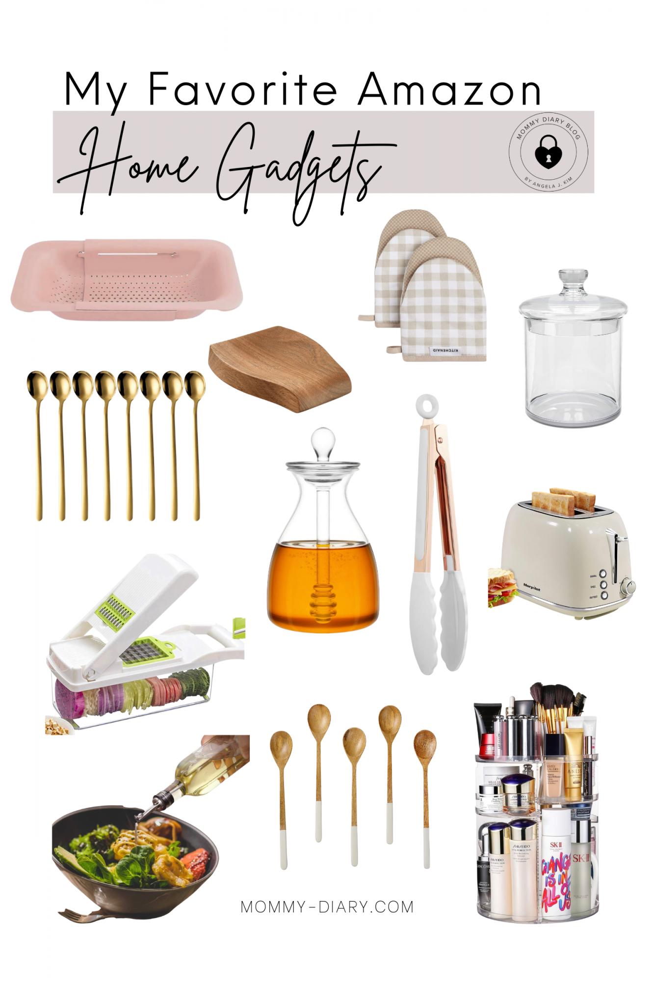 My Favorite Amazon Home Kitchen Gadgets on Mommy Diary Blog.
